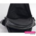 Dwukomorowy zamykany suwakami plecak czarny damski