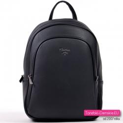 Czarny pojemny plecak damski David Jones