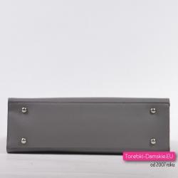Torebka szara - kuferek ze stopkami do stawiania