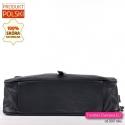 Pojemna i praktyczna czarna torebka do przewieszenia