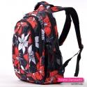 Duży plecak z kwiatowym wzorem