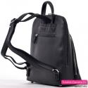 Miejski plecak damski w kolorze czarnym