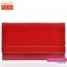 Torebka kopertówka czerwona z lakierem na klapie