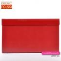Polska torebka prostokątna wieczorowa kopertówka kolor czerwony