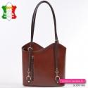 Torebko-plecak skórzany w kolorze brązowym