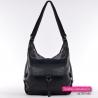 Czarny torbo-plecak damski