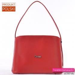 Czerwona torebka wizytowa - kuferek