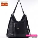 Czarna torba i plecak miejski w jednym