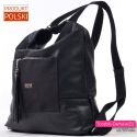 Plecak damski czarny i torba w jednym