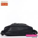 Plecako torba damska z czarnej skóry eko