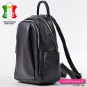Skórzany plecak damski w kolorze czarnym