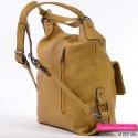 Torbo-plecak żółty musztardowy