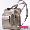 Plecak damski w kolorze platynowym