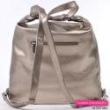 Plecak w kolorze platynowym