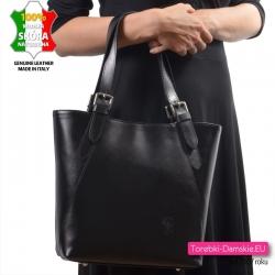 Funkcjonalna czarna torba skórzana w pięknym stylu
