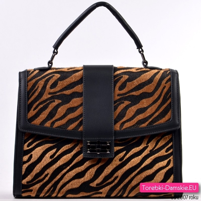 Kuferek - torebka z tygrysiej skóry