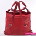 Plecako - torba damska czerwona