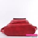 Torbo - plecak czerwony z płaskim uszytwnionym spodem