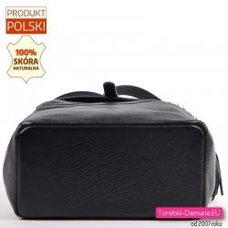 Duży plecak z czarnej skóry