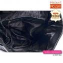Skórzany czarny plecak A4 czarny