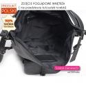 Skórzany torbo - plecak - 2 kieszenie wewnątrz