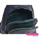 Dwukomorowy plecak damski w kolorze granatowym