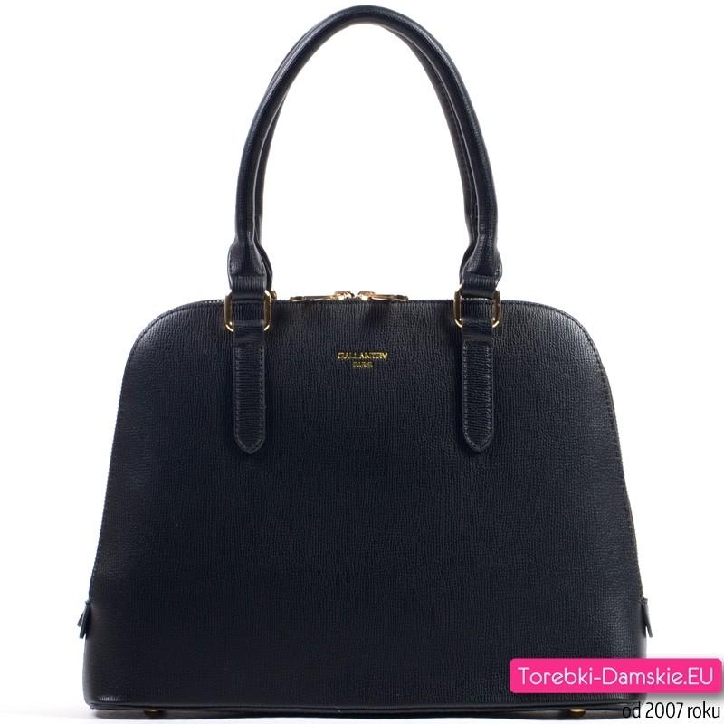 Elegancka czarna torebka dwukomorowa