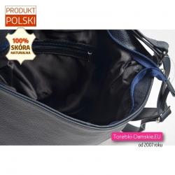 Plecako - torba damska w kolorze granatowym