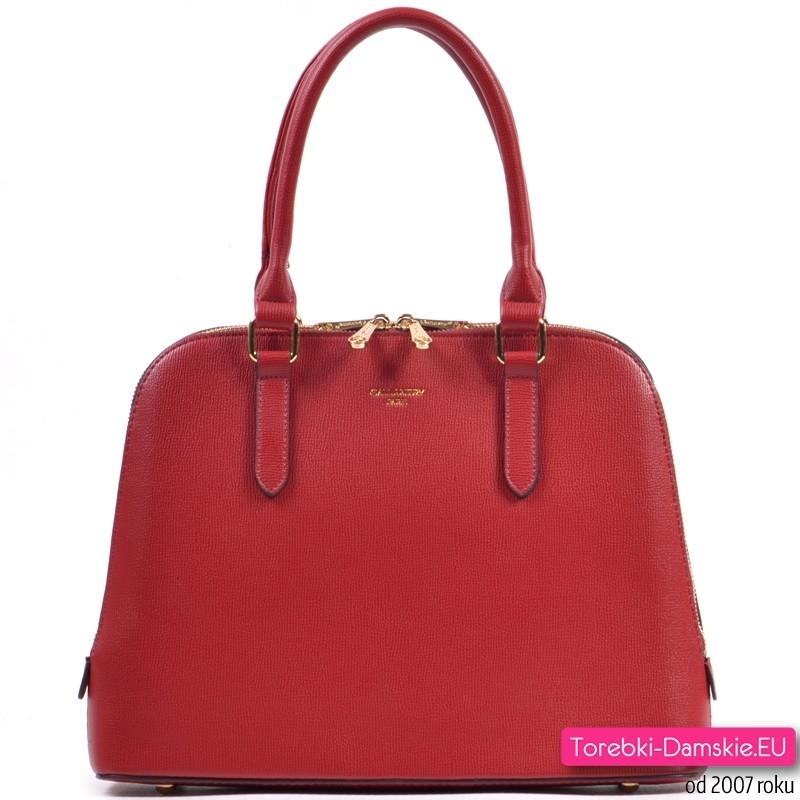 Kuferek czerwony - torebka w eleganckim stylu
