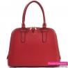 Czerwona stylowa torebka dwukomorowa w pięknym odcieniu