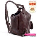 Brązowy torbo - plecak w ciemnym pięknym odcieniu