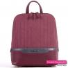 Bordowy stylowy plecak damski