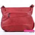 Czerwona torebka damska z klapą