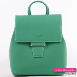 Zielony plecak damski średniej wielkości - piękny odcień koloru