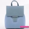 Błękitny plecak damski średniej wielkości