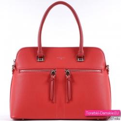 Czerwony kuferek - torebka w kolorze truskawkowym