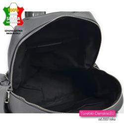 Pojemny plecak włoski ze skóry
