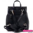 Funkcjonalny i elegancki czarny damski plecak
