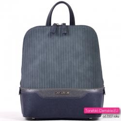 Granatowy markowy plecak damski