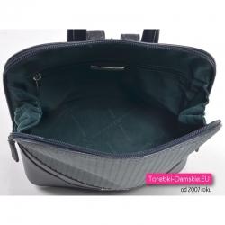 Funkcjonalny granatowy plecak damski