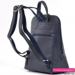 Lekki plecak damski z nowej kolekcji w kolorze granatowym