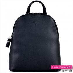 Elegancki czarny plecak damski średniej wielkości