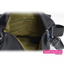 Torba damska zamykana suwakiem - plecak i worek w jednym, 3 kieszenie wewnątrz