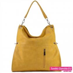 Żółta duża torba damska