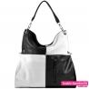 Czarno - biała duża torba damska