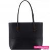 Czarna torba na ramię - duży model mieszczący A4