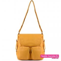 Torba i plecak w jednym w kolorze żółtym