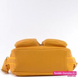 Torba damska w modnym odcieniu koloru żółtego