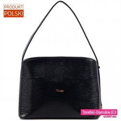 Polska elegancka czarna torebka wieczorowa / wizytowa