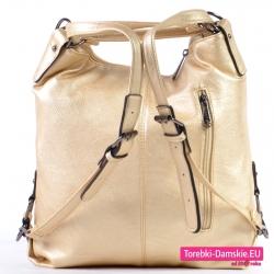 Złoty plecak damski z nowej kolekcji